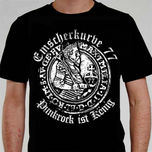 Emscherkurve 77 - Punkrock ist König Girlie Shirt (black)