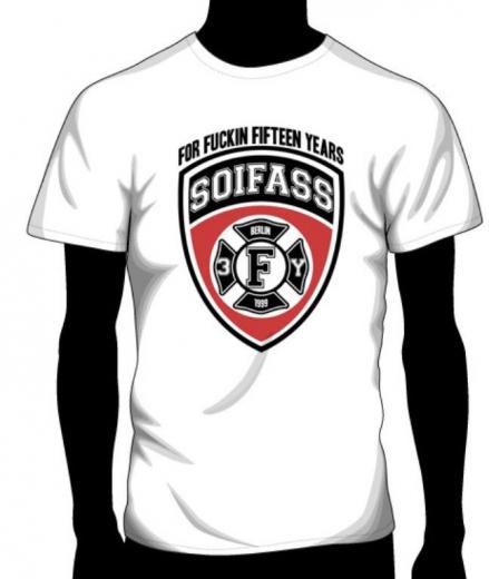 Soifass - for fuckin fifteen years T-Shirt (white)
