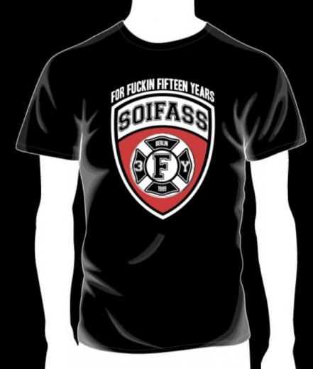 Soifass - for fuckin fifteen years T-Shirt (black)