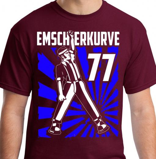 Emscherkurve 77 - Skinhead on stage Motiv 2 - T-Shirt (red)