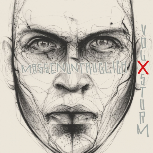 Volxsturm - Massenuntauglich (LP) limited silver Vinyl
