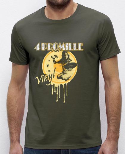4 Promille - Vinyl T-Shirt (military green)