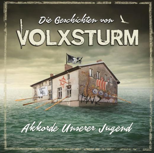 Die Geschichten von Volxsturm - Akkorde unserer Jugend (Do-LP) Trifolder 200 white-marbled Vinyl