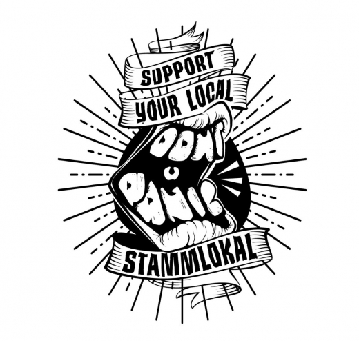 Dont Panic - Support your local Stammlokal GIRLIE (black) * Soli-Aktion