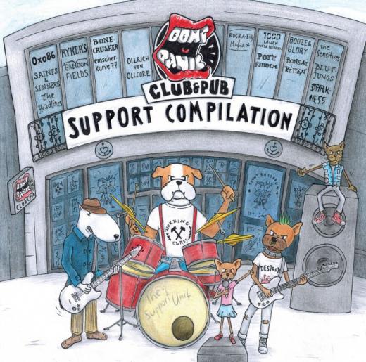Don´t Panic Support Compilation (LP) 500 copies unique color Vinyl: 16 bands for the Club
