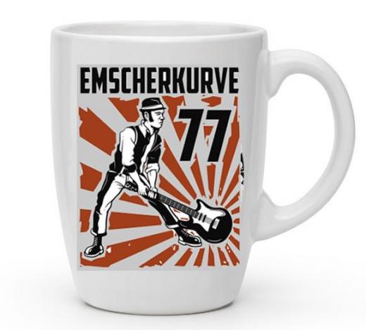 Emscherkurve77 Kaffee-Pot - oranges Motiv (Tasse mit Henkel) Keramik *