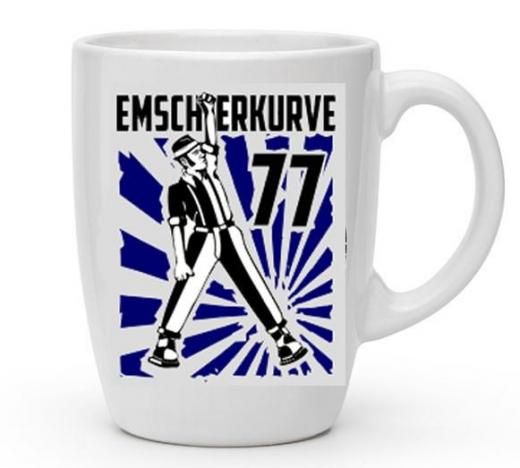 Emscherkurve77 Kaffee-Pot - blaues Motiv (Tasse mit Henkel) Keramik *