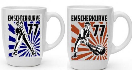 Emscherkurve77 - Kaffee-Pot Set  (2 Tassen mit Henkel) Keramik