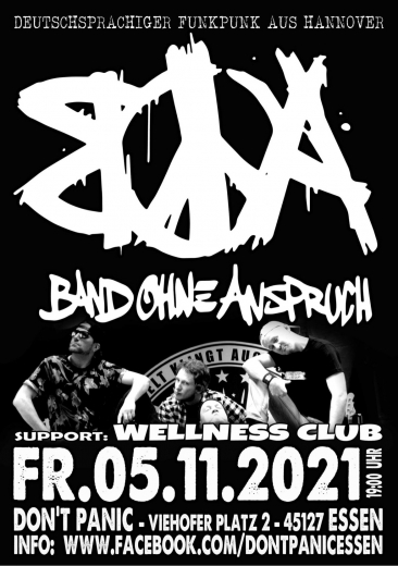 Band ohne Anspruch - Live! (Ticket) 05.11.2021 Dont Panic Essen