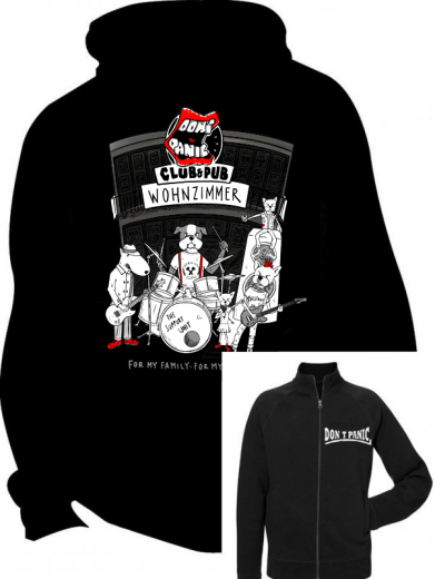 Dont Panic Club Dogs Logo Jacke (black) For my family for my friends