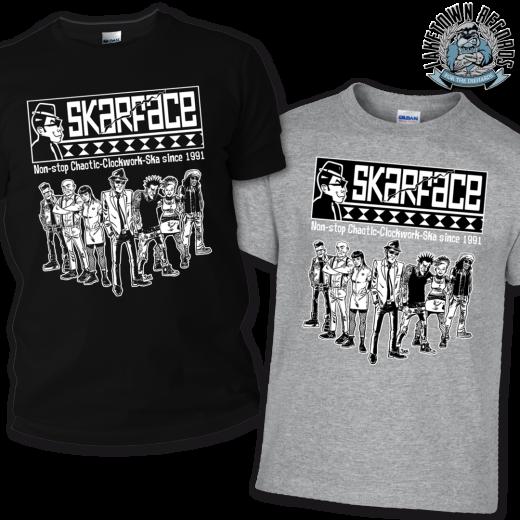Skarface - Clockwork Ska since 1991 Tshirt (grey)