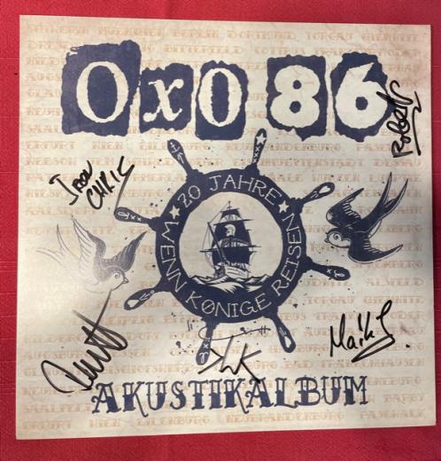 Oxo86 - Akustikalbum (LP)  1st Press Vinyl, Autogramm-Charity-Collection (2 copies)