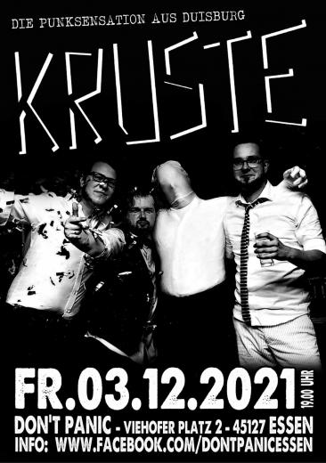 Kruste - Live! (Ticket) 03.12.2021 Dont Panic Essen