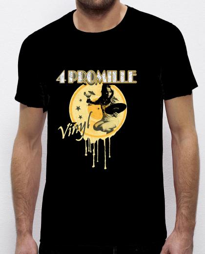 4 Promille - Vinyl T-Shirt (schwarz)