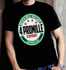 4 Promille - Beer & Roll T-Shirt (black)