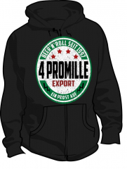 4 Promille - Beer & Roll - Kapu Hooded (black)