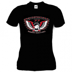 Emscherkurve 77 - Adler Ruhrpott Rock´n Roll Girly Shirt (black)