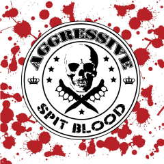 Aggressive - Spit Blood (LP) blood sprenkled Vinyl, limited 250