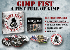Gimp Fist - a Fist Full of Gimp (Collectors Box) 4 Picture LP´s, Book, Slipmat, Cards