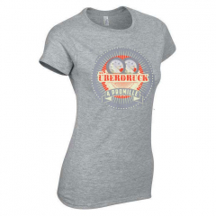 4 Promille- Überdruck Girlie-Shirt (grey)