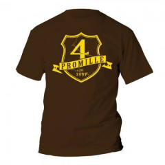 4 Promille - established 1997 Wappen - T-Shirt (brown)