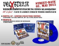 Volxsturm - Oi is Fun + Oi! EP (2 LP) limited aquamarin Vinyl