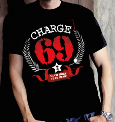 Charge 69 - much more than music - T-shirt (black) limited 50