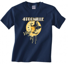 4 Promille - Vinyl T-Shirt (navy blue)