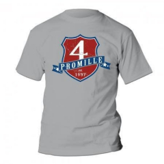 4 Promille - established 1997 Wappen - T-Shirt (grey)
