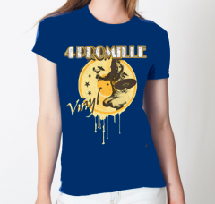 4 Promille- Vinyl Girlie-Shirt (blue)