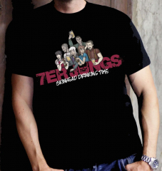 7er Jungs - Skinhead Drinking Time - T-shirt black