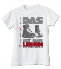 Volxsturm - Das ist das Leben... - T-Shirt (white)