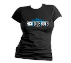 Eastside Boys - Berlin Band Logo - Girly Shirt (black)