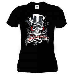 Berserker Berlin - Skullhead Stay Brutal - Girly Shirt (black)