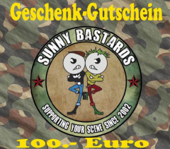 Sunny Bastards Shop-Gift Card for 100 Euro