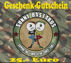 Sunny Bastards Shop-Gift Card for 25 Euro
