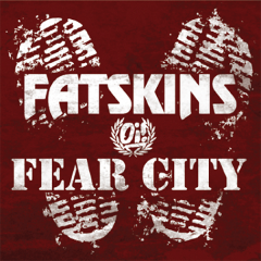 Fatskins / Fear City - same (EP) 7inch red Vinyl lim 200
