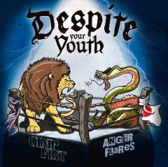 Gimp Fist / Anger Flares - Despite your youth (LP) 500 blue Vinyl Super Sound Single #9