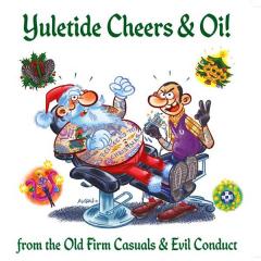split Evil Conduct / Old Firm Casuals - Yuletide (EP) 7inch black Vinyl