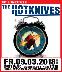 Hotknives (Ticket) 09.03.18 live Don´t Panic Essen + Aftershow Birthday Bash
