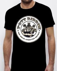Pott Riddim - Nie mehr arbeiten Tshirt (black)