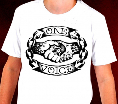 One Voice - Logo T-Shirt (weiss)