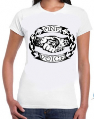One Voice - Logo Girlie Shirt (weiß)