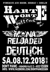 Harte Worte / Mona Reloaded / Deutlich - (Ticket)  Live 08.12.20018 Don´t Panic Essen