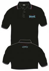 Booze & Glory - Logo (black) Polo gestickt