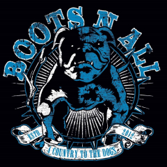 Boots n All - A Country to the Dogs (LP) Super Sound Single#13 white-grey marbled Vinyl 100 copies +MP3