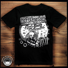 Los Placebos - Rocksteady Rollercoaster T-Shirt (black)