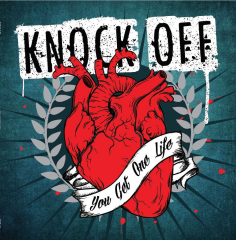 Knock Off - You get one life (LP) silver Vinyl 100 copies + CD