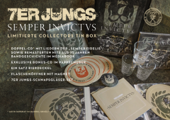 7er Jungs - Semper Invictus (BOX) Collectors Box, Do-CD, Bonus-CD, 3 Schnapsgläser, Öffner, Bierdeckel-Set