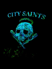 City Saints - Pa Svenska (LP) GLOW IN THE DARK UNIKAT black Vinyl